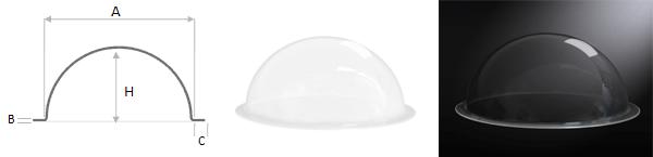 Demi-bulle Demi sphère plexiglas